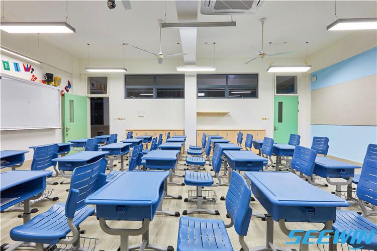 单人可调节中小学生课桌椅