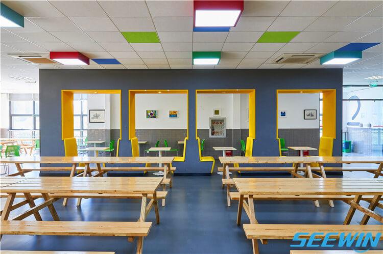 学校餐厅食堂实木餐桌椅