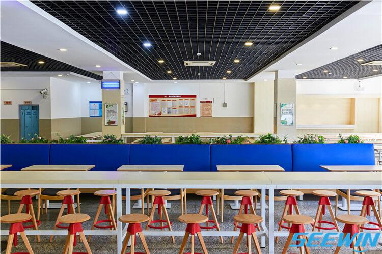 学校餐厅食堂餐桌椅沙发卡座组合