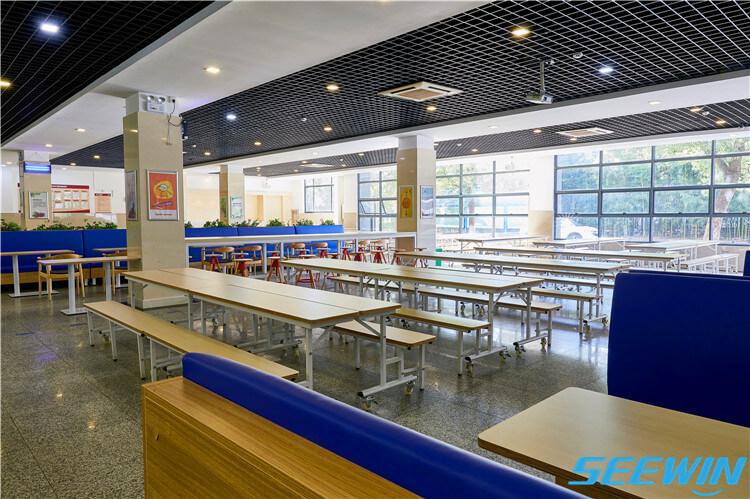 自由组合学生餐厅食堂折叠餐桌椅