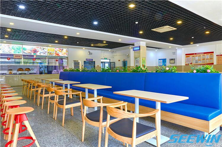 学校餐厅食堂沙发卡座