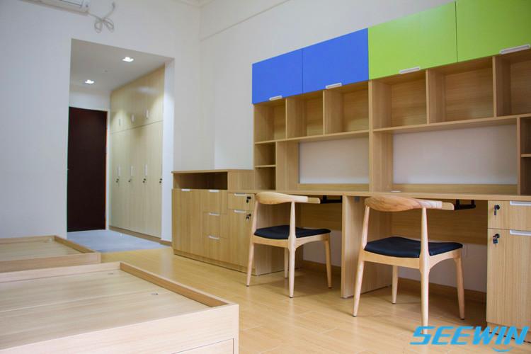 学生宿舍公寓学习书柜一体电脑桌
