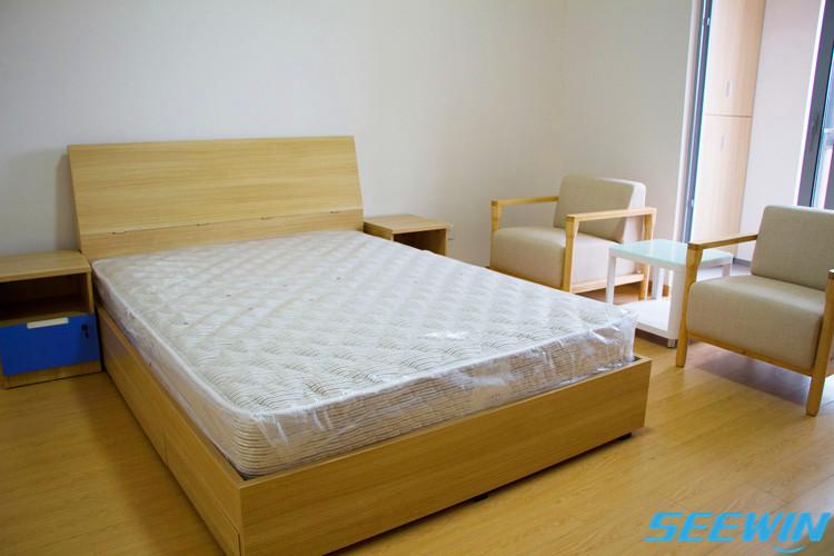 紫竹国际教育老师宿舍双人床